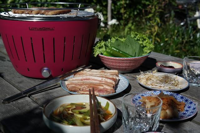 Lotus Grill, Bordgrill, grilling, Sommer, Hagekos,