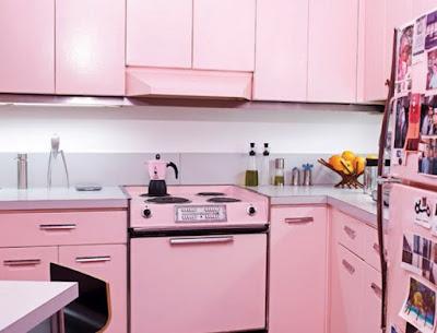 cozinha rosa casa cocina kitchen cucina outubro rosa cancer de mama mulher pink rose fofa meiga feminina boneca barbie decoração diferente colorida retro