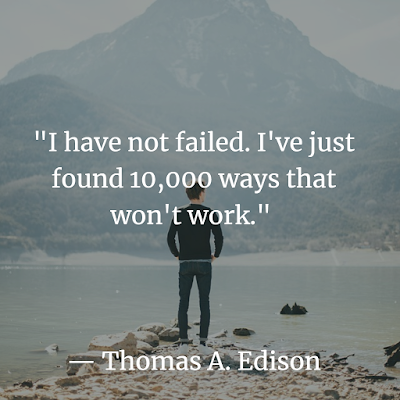 Thomas A. Edison quote for inspiration