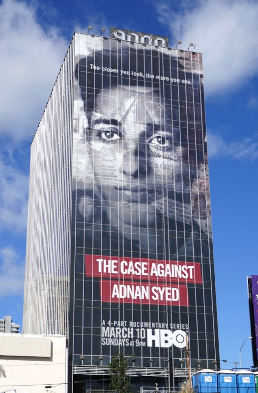 Case Against Adnan Syed HBO billboard