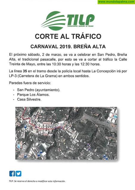 Ajuste de líneas de Transporte Público por el corte de la calle Treinta de Mayo en San Pedro