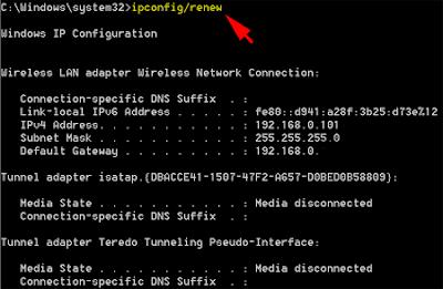 ipconfig/renew