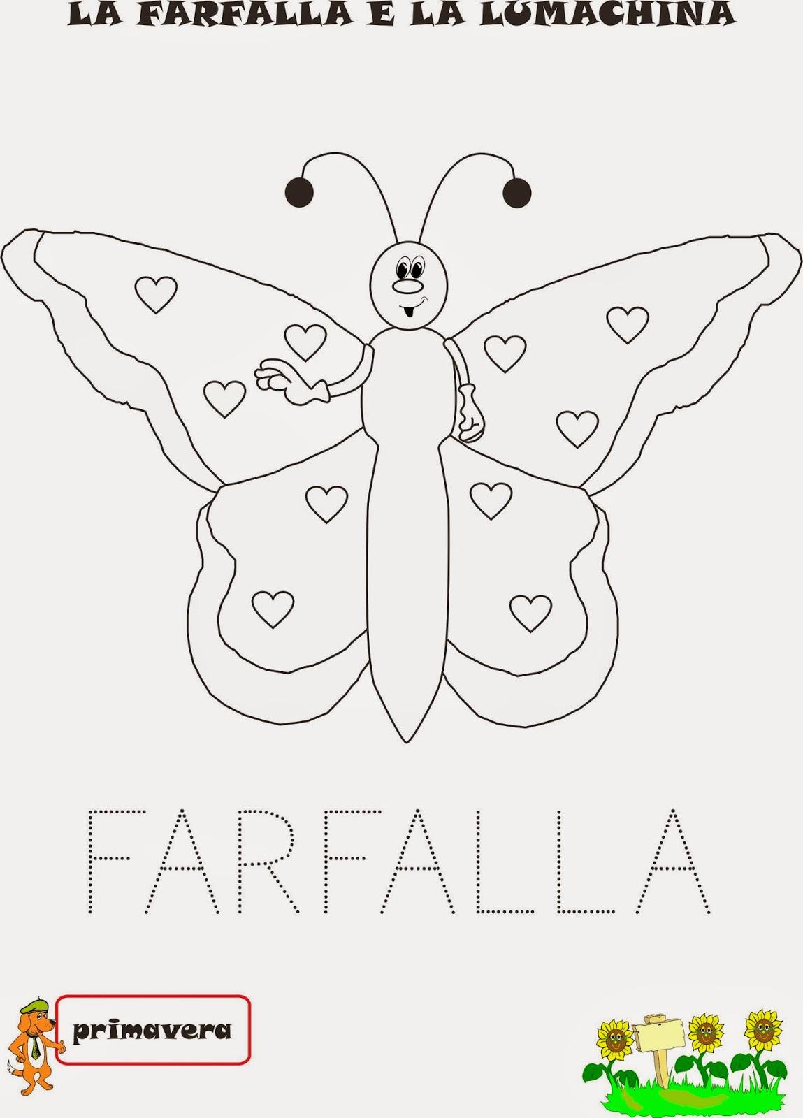 A scuola con poldo una storia primaverile la farfalla e for Schede didattiche scuola infanzia 3 anni
