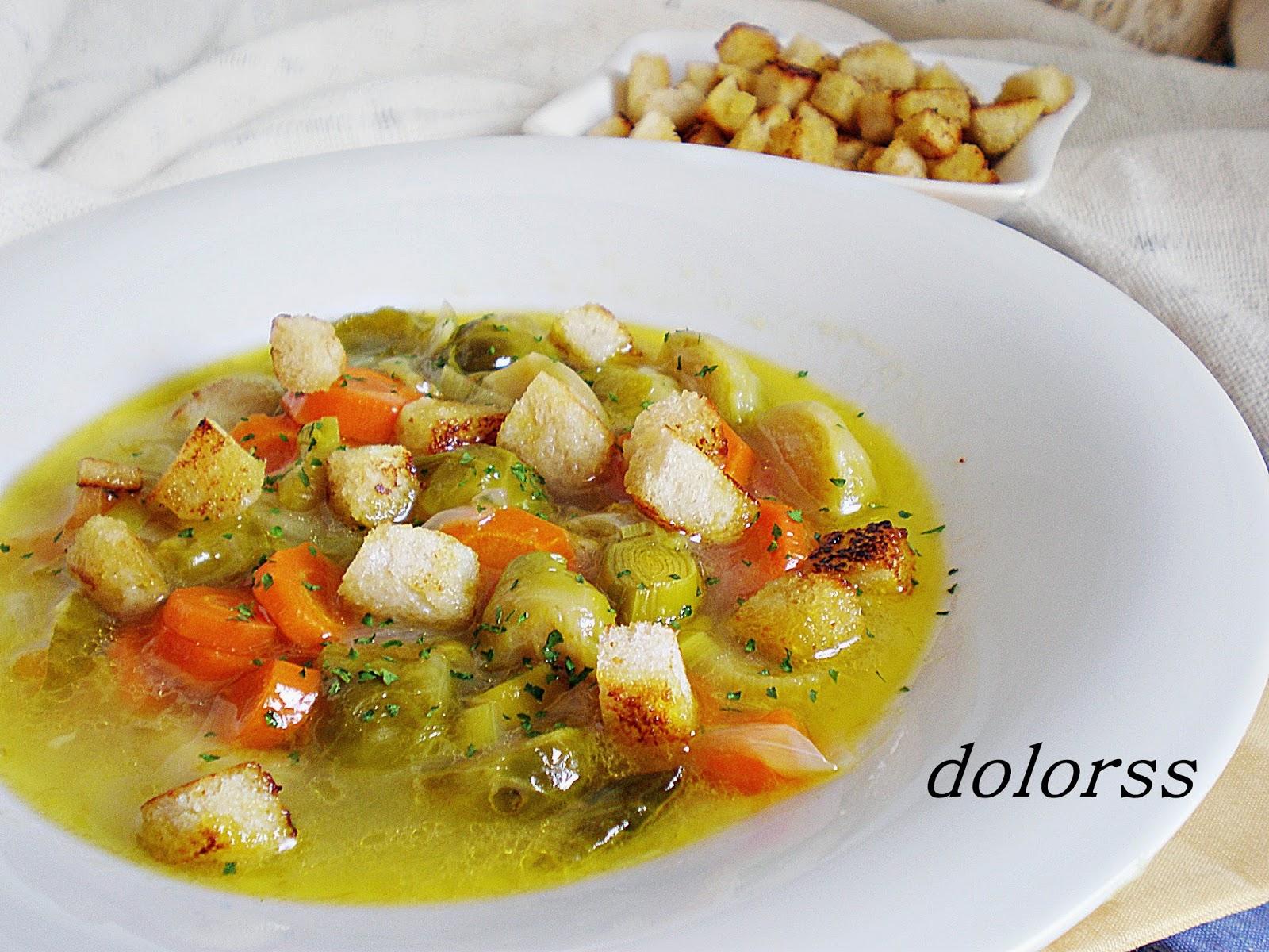Blog De Cuina De La Dolorss Sopa De Coles De Bruselas Y Pollo