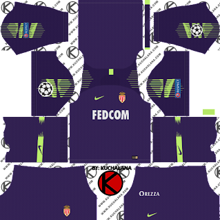 and the package includes complete with home kits Baru!!! AS Monaco FC 2018/19 Kit - Dream League Soccer Kits