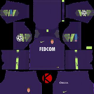 AS Monaco FC 2018/19 UCL Kit - Dream League Soccer Kits