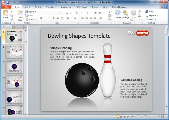 Bowling Shapes Template
