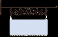 Plaquinha cute azul claro - Criação Blog PNG-Free