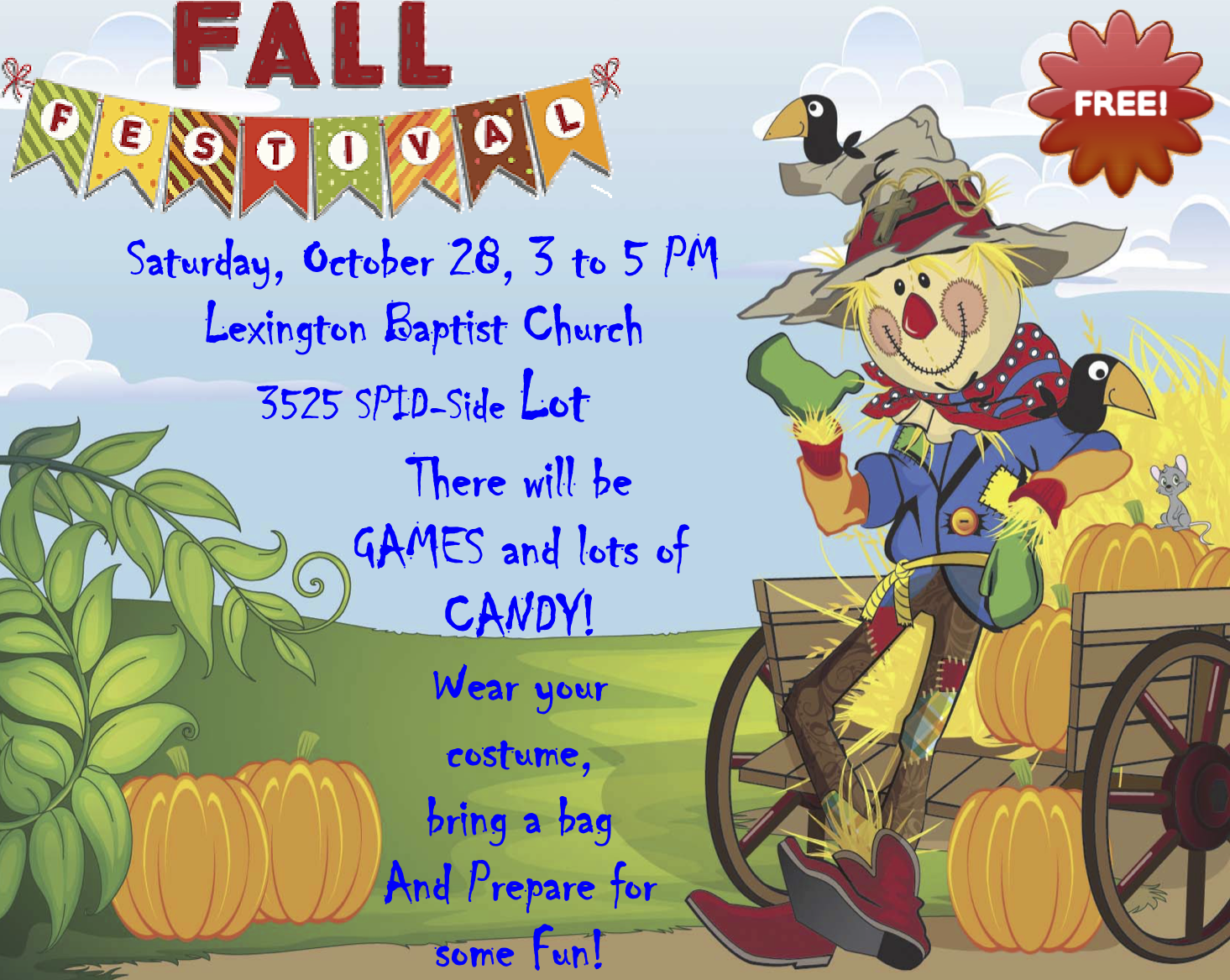 downtown corpus christi lexington baptist church fall festival from 3 to 5 pm play games win candy wear your costumes bring a bag and prepare for fun - Halloween Stores In Corpus Christi