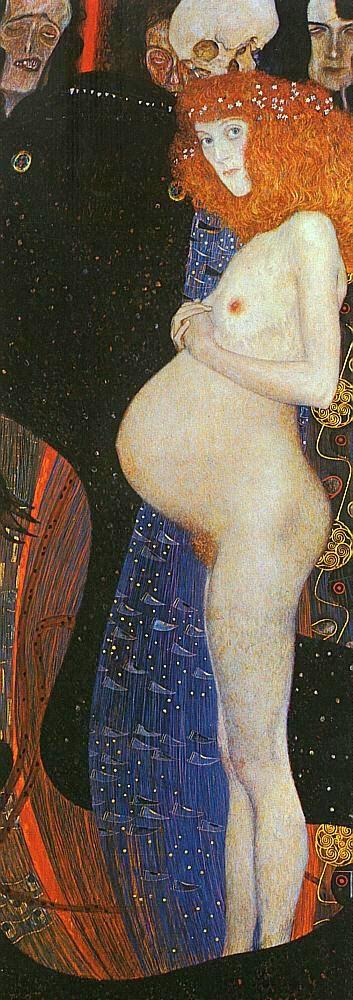 A Esperança - Gustav Klimt e suas pinturas ~ Pintor simbolista austríaco