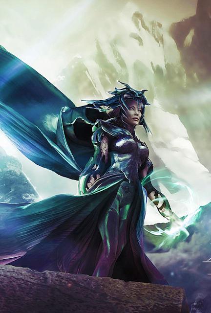 Concept art pentru personajul lui Cate Blachett în Thor 3: Ragnarok