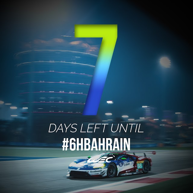 One week to go to Bapco 6 Hours of Bahrain