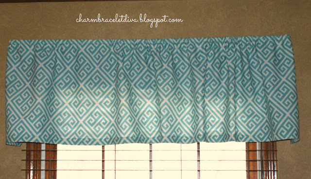 Target curtain panel turned into window valance