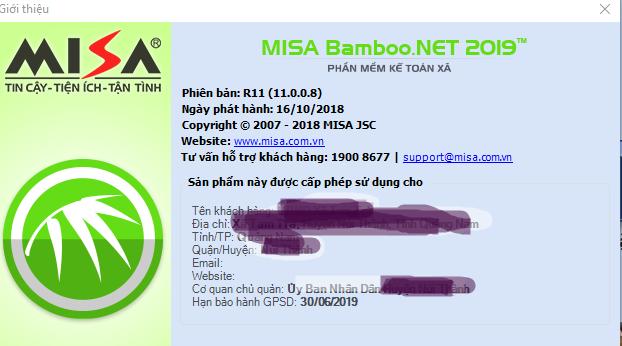 Cập nhật MISA Bamboo.NET 2019 R11 (16/10/2018)