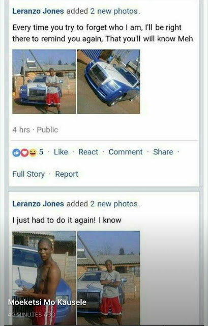 IMG_20170921_145727_642 Could he be the'brazen' thief? Man poses next to the stolen Rolls Royce Phantom in South Africa, shares photos on Facebook