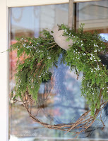Christmas Porch Natural Greenery