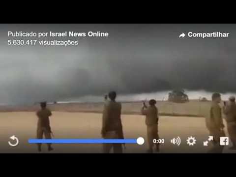 Gigantesca nube se posa en la frontera de Israel y Siria. Mira el video