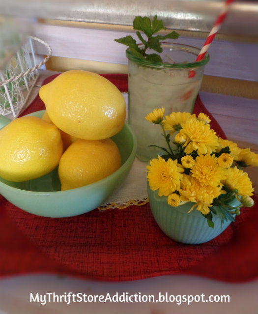 Lemonade serving station