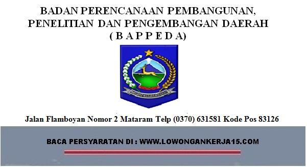 lowongan kerja Bappeda, lowongan kerja tenaga kontrak