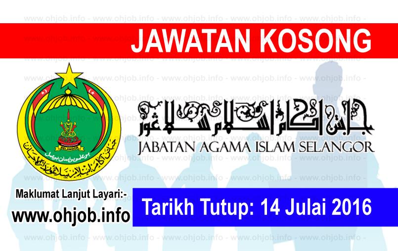 Jawatan Kerja Kosong Jabatan Agama Islam Selangor (JAIS) logo www.ohjob.info julai 2016