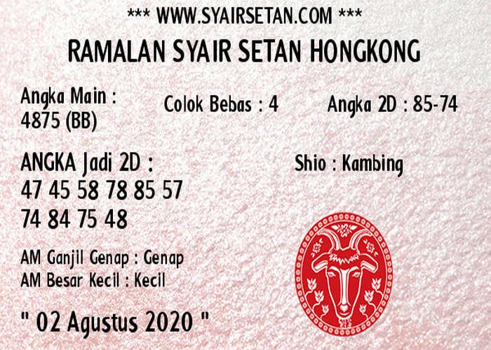 Kode syair Hongkong Minggu 2 Agustus 2020 311