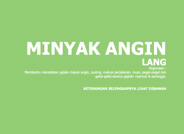 Minyak Angin Lang (Eagle Medicated Oil)