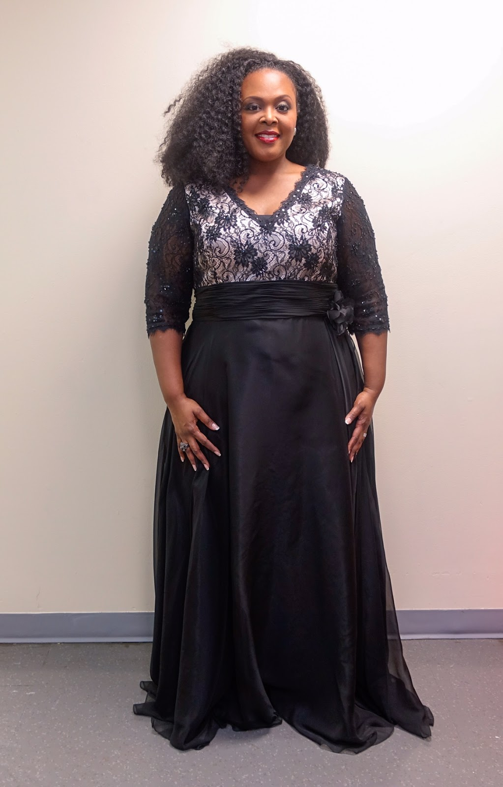 sydneys closet dress, sydneys closet black gown, sydneys closet nina gown, plus size black gown, plus size black evening gown, plus size evening wear