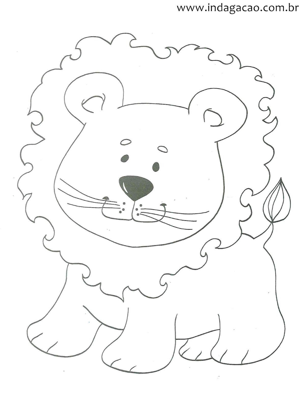 Desenho Do Leaozinho Para Crianca Colorir Indagacao