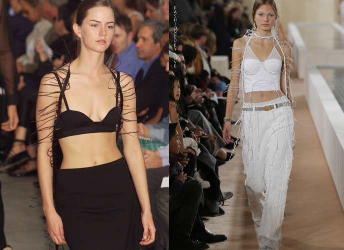 Fashion copycats Helmut Lang Spring/Summer 2001 VS Balenciaga Spring/Summer 2016 via www.fashionedbylove.co.uk
