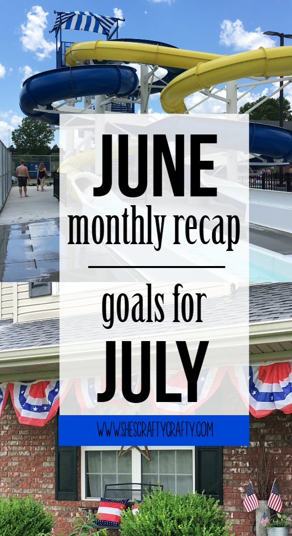 june recap, july goals, swim
