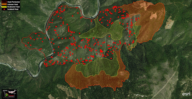 Trailhead Fire Last night IR Over Flight - ArcGIS Software