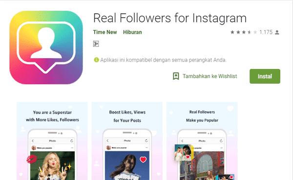 aplikasi yang membuat akun instagram banyak pengikut aktif