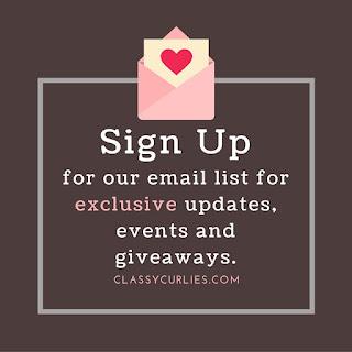 classycurlies.com email newsletter