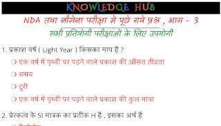 NDA & Navy Exam Quiz-3