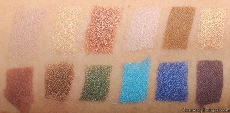 Review and swatches of Cargo Cosmetics Land Down Under Eyeshadow Palette, and eye makeup looks.
