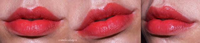 Peripera Sugar Glow Tint  pink melon swatches lips