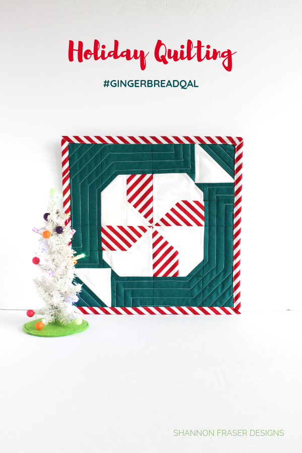 Holiday Quilt A Long | Quilted Mint Sweet Block | Love Patchwork & Quiltling #gingerbreadQAL | Shannon Fraser Designs