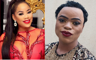 Image result for bobrisky and toyin lawani