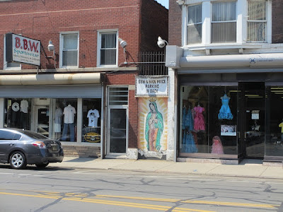 Painting of the Virgin of Guadalupe on West Vernor Detroit