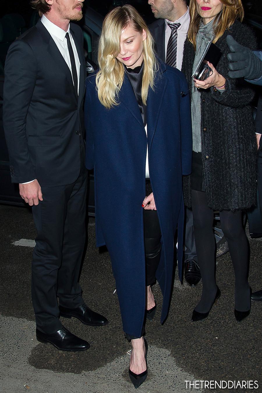 Kirsten Dunst at the Yves Saint Laurent Fall-Winter 2013 ...
