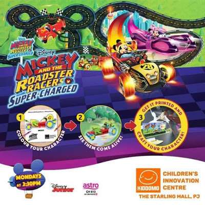 Mickey & The Roadster Racers Super-Charged di Kiddomo Universe Kiddomo Universe The Starling Mall. 21 Januari 2019 sehingga 28 Februari 2019 aktiviti cuti sekolah plan cuti sekolah, aktiviti menarik cuti sekolah kemahiran skill motor Kiddomo Universe The Starling Mall Belajar sambil Bermain Creation Zone Discovery Zone Interactive Zone Adventure Zone Imagination Zone Baby Gym Enrichment Workshop