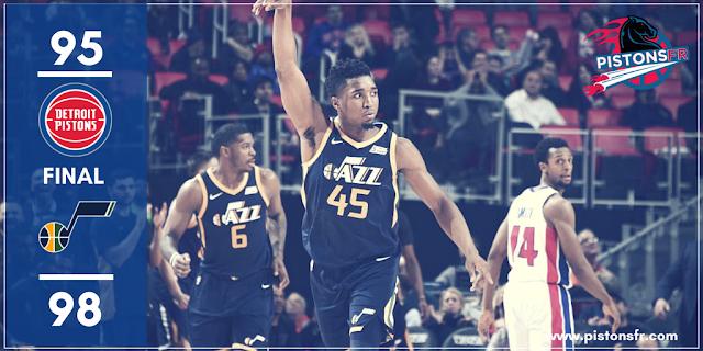 Résultat Pistons-Jazz 95-98 | PistonsFR, actualité des Detroit Pistons en France