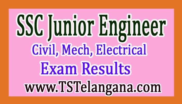 SSC Junior Engineer, Civil, Mech, Electrical Paper Results/ Marks 2017er, Civil, Mech, Electrical Paper Results/ Marks 2017