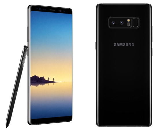 Black Galaxy Note 8