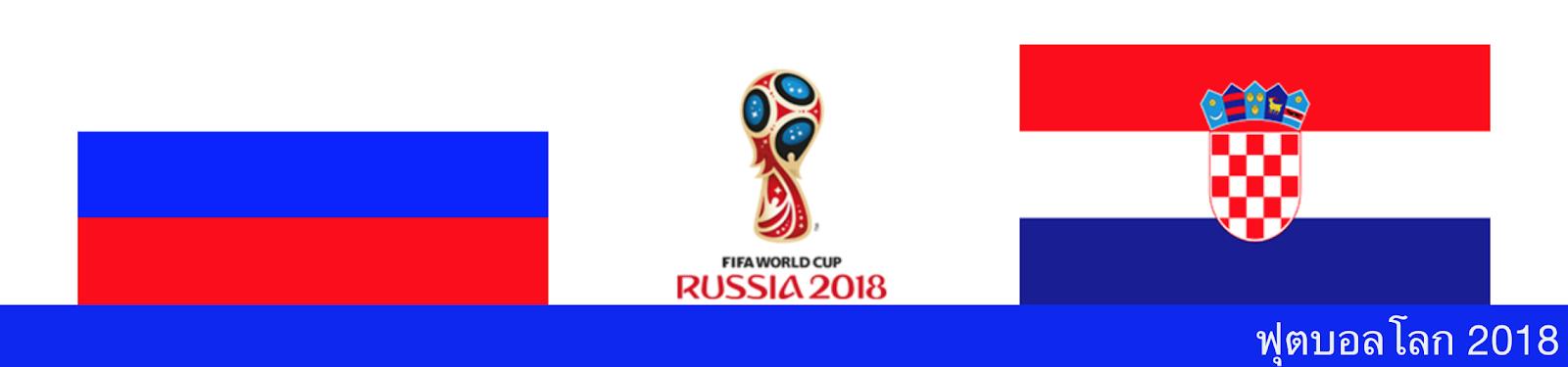 ดูบอลสด วิเคราะห์บอล ฟุตบอลโลก ระหว่าง รัสเซีย vs โครเอเชีย