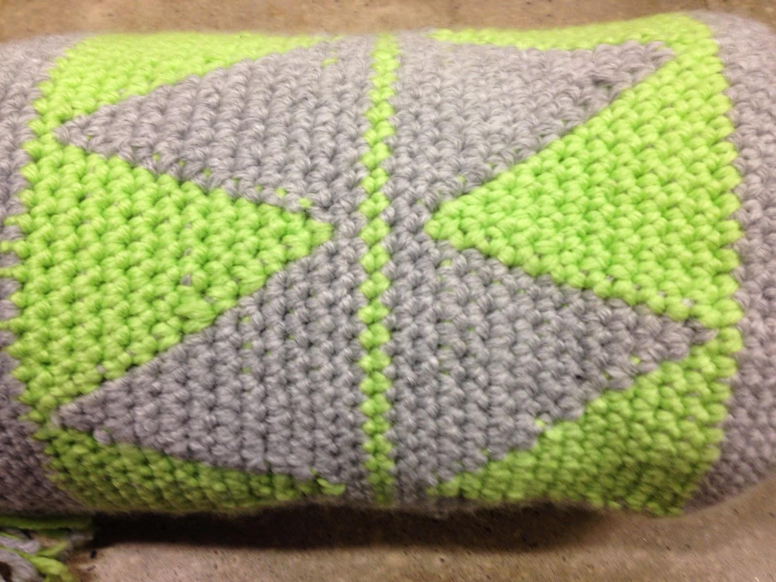 Ibiza style crocheted bolster