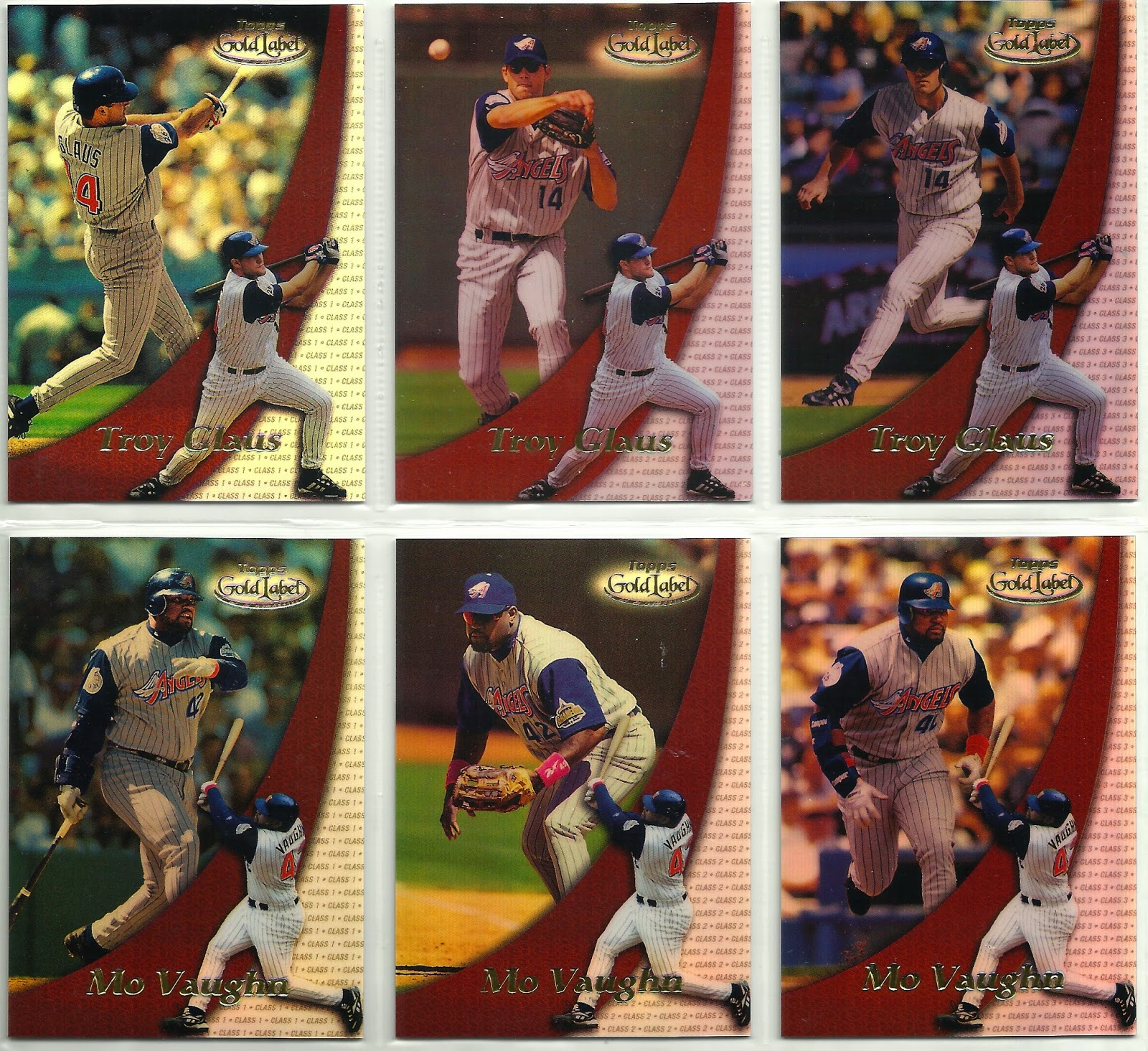 The Angels In Order Completed Angels Team Set 2000 Topps Gold Label