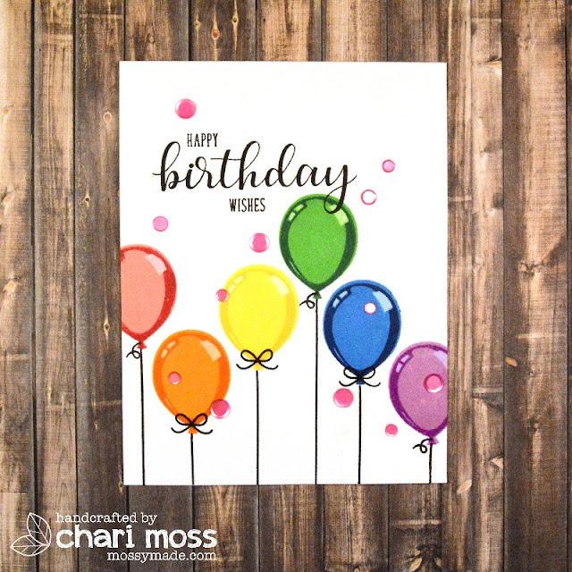 Sunny Studio Stamps: Breakfast Puns Born To Sparkle Birthday Balloon Cards by Chari Moss