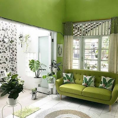 dekorasi ruang tamu yang cantik dan bagus