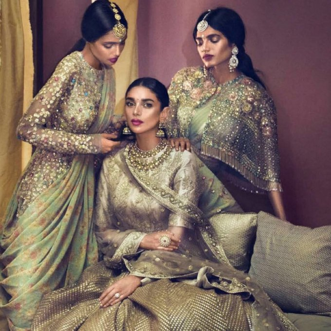 Aditi Rao Hydari Poses for Vogue Wedding Book Magazine Issue